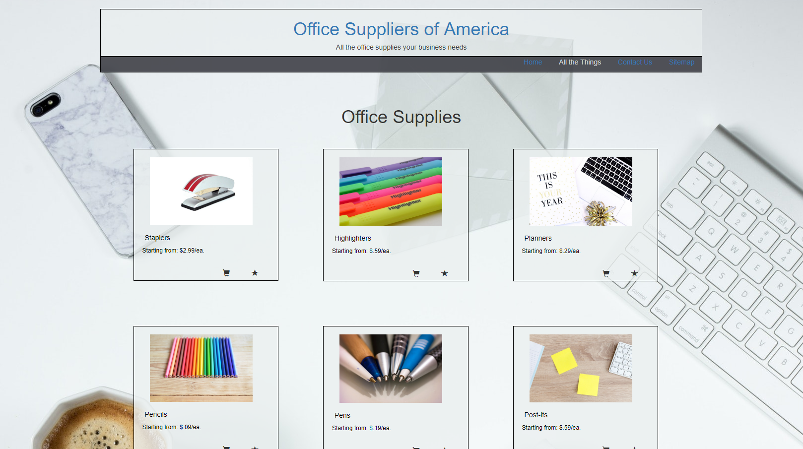 Office Supplies site